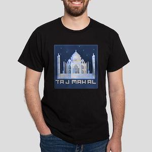 """""""Pixel Taj Mahal with Stars"""" Dark T-Shirt"""