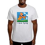 I Love Flying Ash Grey T-Shirt