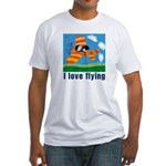 I Love Flying Fitted T-Shirt