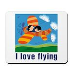 I Love Flying Mousepad