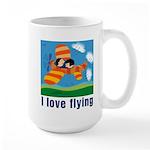 I Love Flying Large Mug