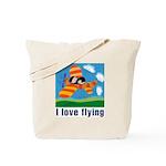 I Love Flying Tote Bag