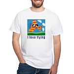 I Love Flying White T-Shirt