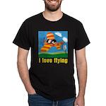 I Love Flying Black T-Shirt