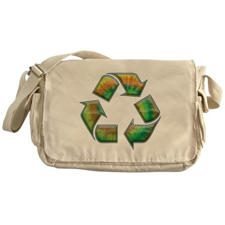 Recycle -Tie-Dye Messenger Bag
