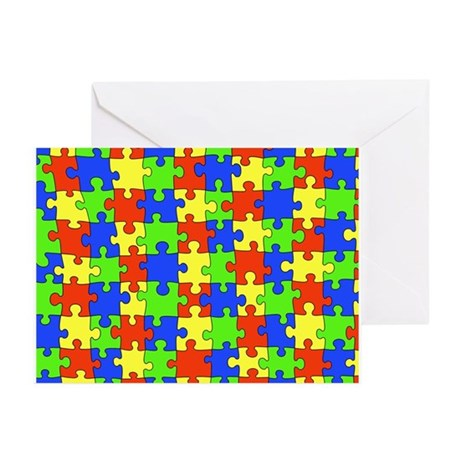 Autism Puzzle Greeting Cards (Pk of 10)