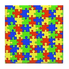 Autism Puzzle Tile Coaster
