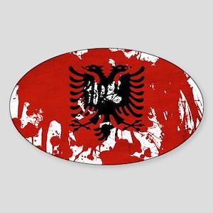 Albania Flag Sticker (Oval)