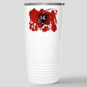 Albania Flag Stainless Steel Travel Mug