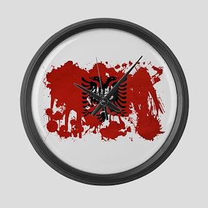 Albania Flag Large Wall Clock
