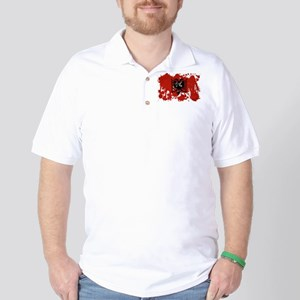 Albania Flag Golf Shirt