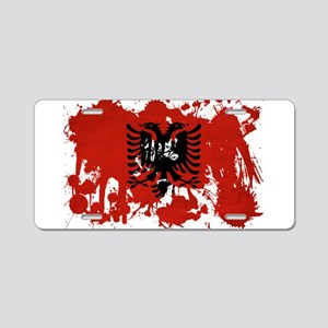 Albania Flag Aluminum License Plate