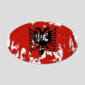 Albania Flag 22x14 Oval Wall Peel
