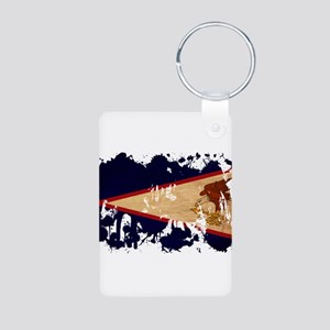 American Samoa Flag Aluminum Photo Keychain