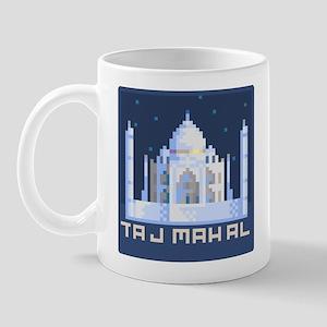 """""""Pixel Taj Mahal with Stars"""" Mug"""