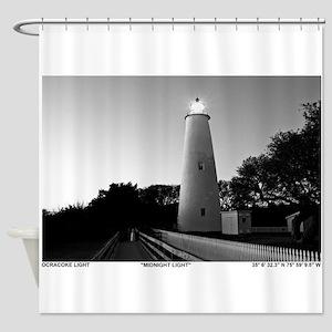 Ocracoke Lighthouse. Shower Curtain