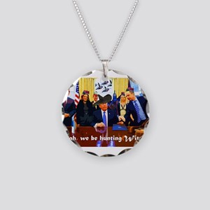 we be hunting witches Necklace Circle Charm