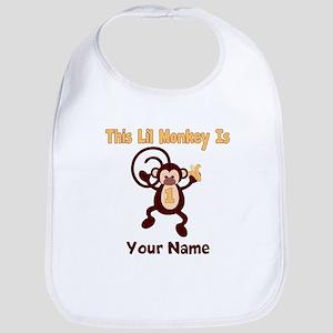 1st Birthday Monkey Bib