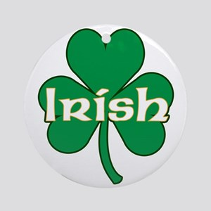Irish Shamrock Ornament (Round)