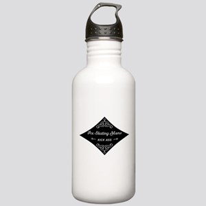Ice Skating Moms Kick Ass Stainless Water Bottle 1