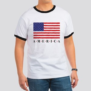 American Flag Fourth of July Stars T-Shirt