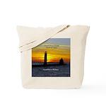Grand Haven Pierhead Lights Sunset Tote Bag