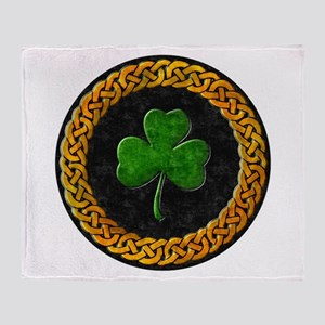 Celtic Irish Shamrock Throw Blanket