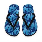 Metallic Blue Forest Flip Flops