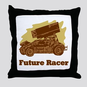 Future Auto Racer Throw Pillow