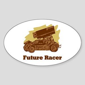 Future Auto Racer Oval Sticker