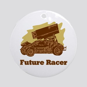 Future Auto Racer Ornament (Round)