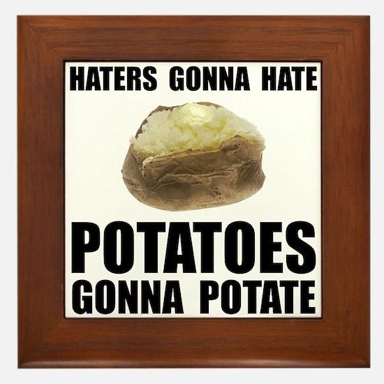 Potatoes Potate Framed Tile