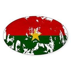 Burkina Faso Flag Sticker (Oval)