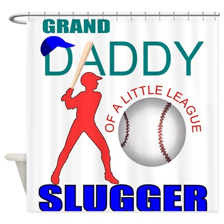 Baseball slugger's grandpa Shower Curtain