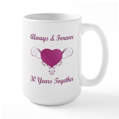 30th Anniversary Heart Large Mug