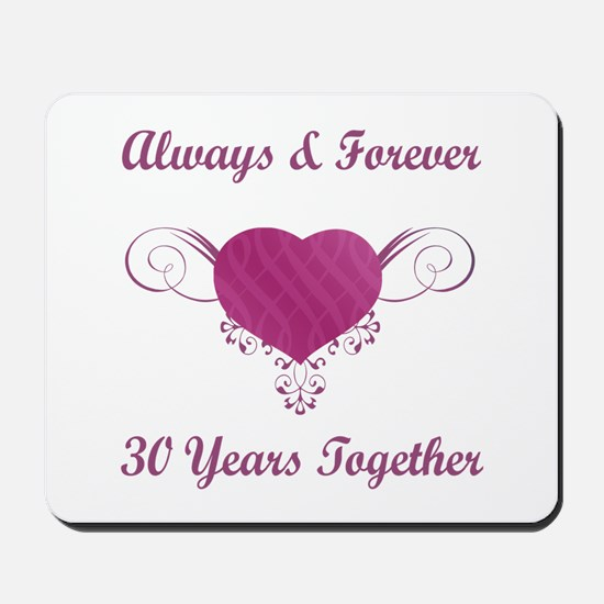30th Anniversary Heart Mousepad