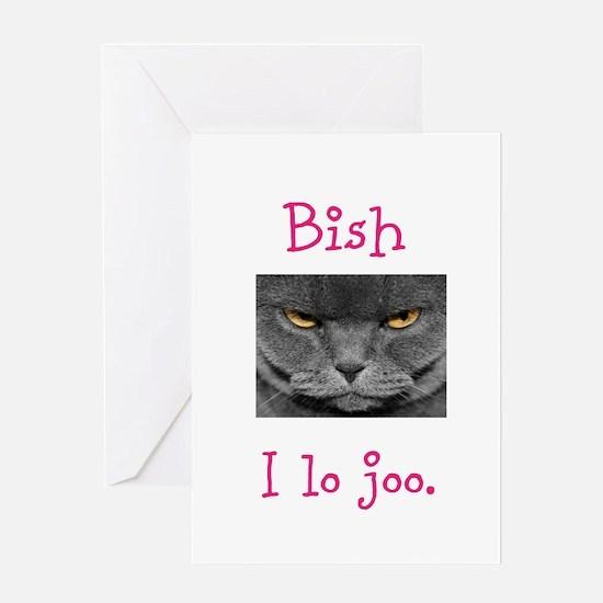 Lo Joo Disapproving Cat Greeting Card