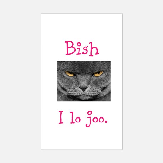Lo Joo Disapproving Cat Sticker (Rectangle)