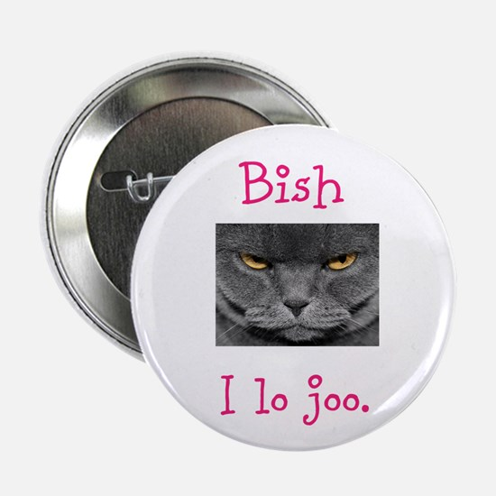 """Lo Joo Disapproving Cat 2.25"""" Button"""