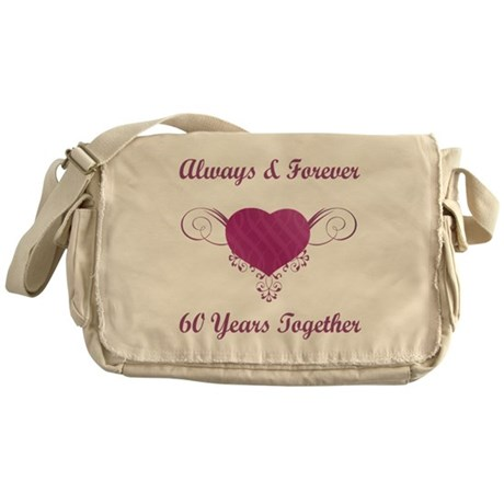60th Anniversary Heart Messenger Bag