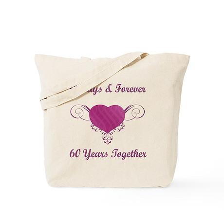 60th Anniversary Heart Tote Bag
