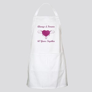 60th Anniversary Heart Apron