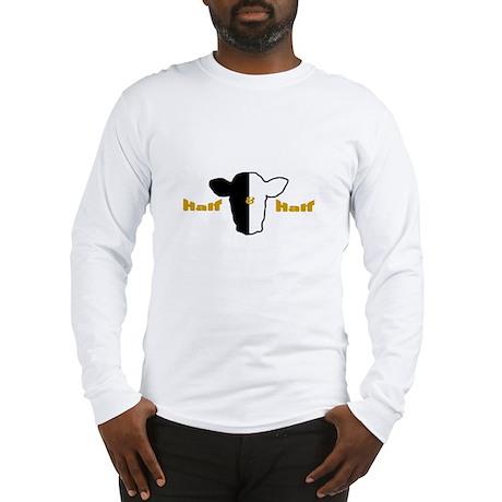 Half and Half Biracial Pride Long Sleeve T-Shirt