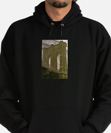 Brooklyn Bridge:Flag Hoodie (dark)