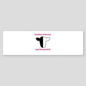 Cookies and Cream Biracial Pride Bumper Sticker