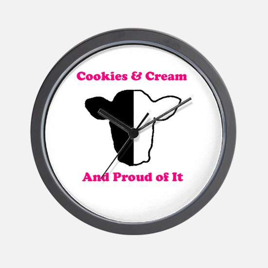 Cookies and Cream Biracial Pride Wall Clock