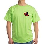 A little cross.... Green T-Shirt
