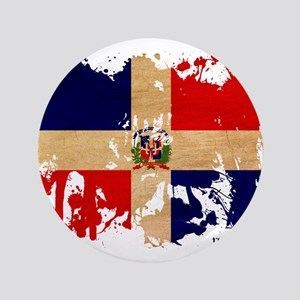 "Dominican Republic Flag 3.5"" Button"
