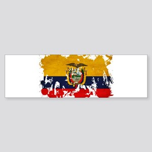Ecuador Flag Sticker (Bumper)