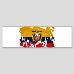 Ecuador Flag Sticker (Bumper)